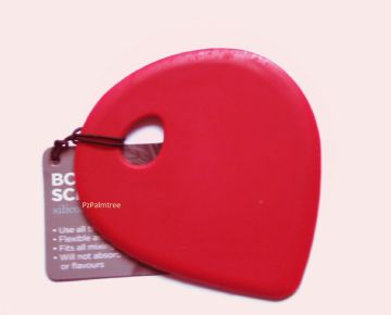Red Silicone Bowl Scraper Flexible Spatula Baking Tool